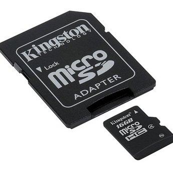 Kingston Kingston Technology SDC4/16GB flashgeheugen MicroSDHC Klasse 4 Flash