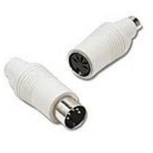 Cables To Go C2G 6-Pin Mini-DIN F / 5-Pin DIN M, 6-Pin Mini-DIN F, 5-Pin DIN M, Wit