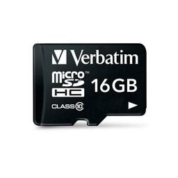 Verbatim 16GB, MicroSDHC, Class 10