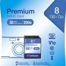 Verbatim 8GB, SDHC, Class 10