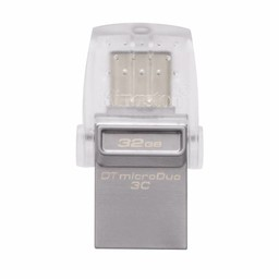 Kingston Kingston Technology DataTraveler microDuo 3C 32GB USB flash drive 3.0 (3.1 Gen 1) USB-Type-A-aansluiting USB Type-C-connector Zilver