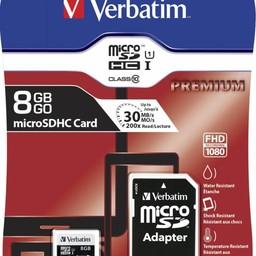 Verbatim Verbatim Premium flashgeheugen 8 GB MicroSDHC Klasse 10