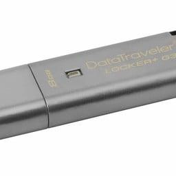 Kingston Kingston Technology DataTraveler Locker+ G3 8GB USB flash drive 3.0 (3.1 Gen 1) USB-Type-A-aansluiting Zilver