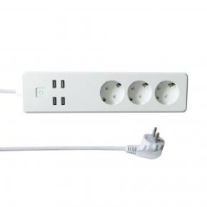 WOOX WOOX R4028 Smart Multi-plug/ slimme stekkerdoos [3x Schuko, 4x USB, Powered by TUYA, White]