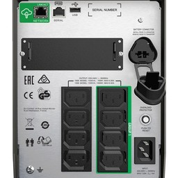 Apc APC Smart-UPS SMT1000IC - Noodstroomvoeding 8x C13, USB, SmartConnect, 1000VA