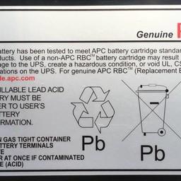 Apc APC Batterij Vervangings Cartridge RBC18