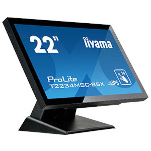 "iiyama iiyama ProLite T2234MSC-B5X touch screen-monitor 54,6 cm (21.5"") 1920 x 1080 Pixels Zwart Multi-touch"
