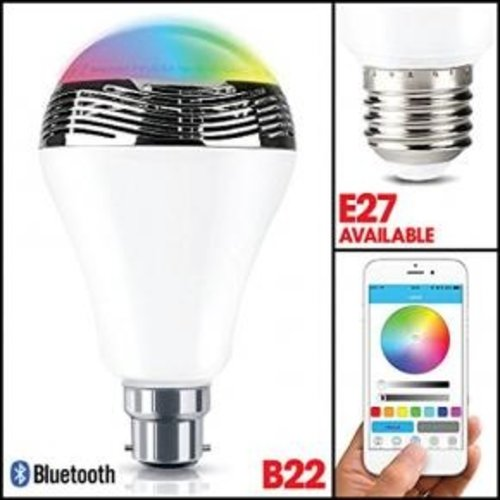 WOOX WOOX R4554 Smart B22 LED lamp RGB & warm wit, powered by TUYA