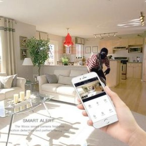 WOOX WOOX R4600 indoor smart camera UK adapter, powered by TUYA