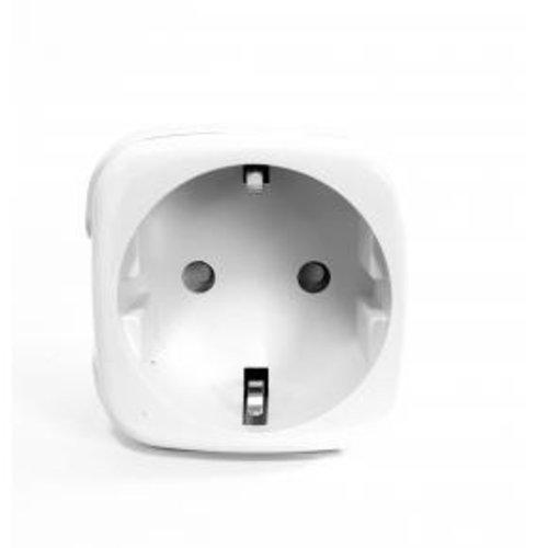 WOOX WOOX R5024 Smart plug/ slimme stekker [Schuko, 16A, TUYA/ Amazon Alexa/Google Assist/IFTTT, White] - Copy