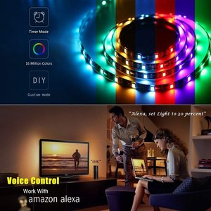 WOOX R4049 Smart LED strip werkt met Alexa en Google Home Assistent, Powered by Tuya Smart Life