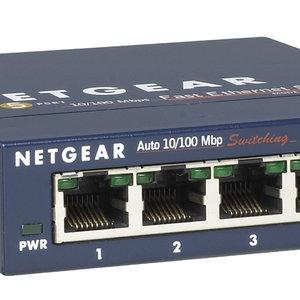 Netgear Netgear ProSAFE Unmanaged Switch - FS105v3 - Desktop - 5 Fast Ethernet Poorten - 10/100 Mbps