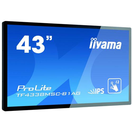 """iiyama iiyama TF4338MSC-B1AG beeldkrant 108 cm (42.5"""") LED Full HD Touchscreen Interactief flatscreen Zwart"""