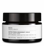 Evolve Beauty skincare Cotton Fresh Deodorant Cream 30 ml