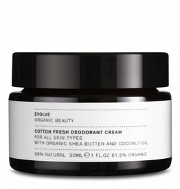 Evolve Beauty  Cotton Fresh Deodorant Cream 30 ml