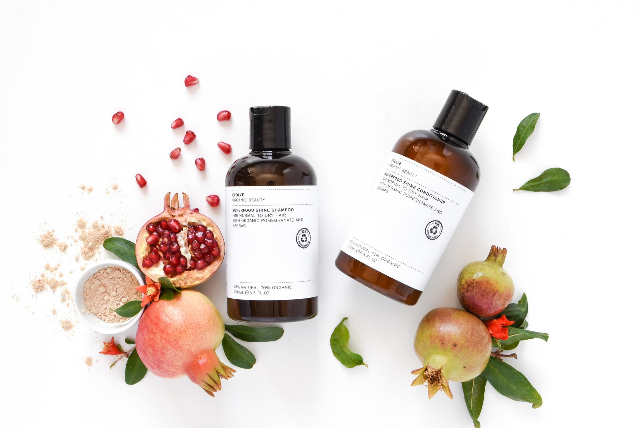Evolve Beauty  Superfood Shine Shampoo  Duo 250 ml