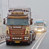 Zonneklep type 2-D voor Scania R-serie met Highline cabine