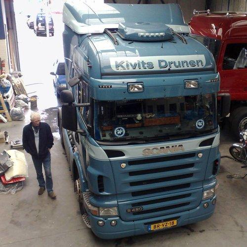Scania Zonneklep type 1-B voor Scania R-serie met Highline cabine