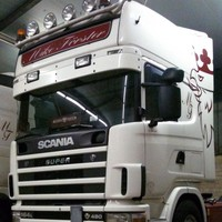 Scania Zonneklep type 1-B voor Scania 4-serie met Highline cabine