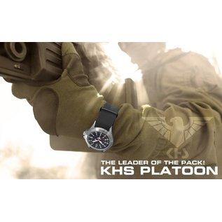 KHS Tactical Watches KHS Platoon H3 Titan Automatik Einsatzuhr mit Natoband Black