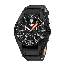 KHS Tactical Watches Missiontimer 3 mer Chronograph | Leather strap with G-pad  - Copy