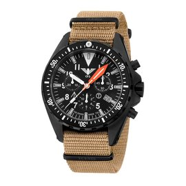 """KHS Tactical Watches KHS Missiontimer 3 """" OCEAN """" Blue Chronograph, blue H3