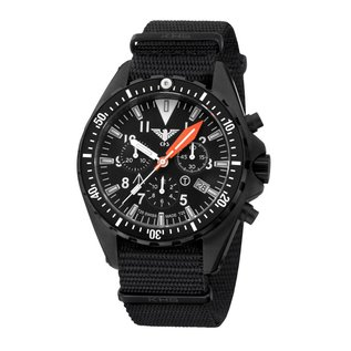 KHS Tactical Watches Missiontimer 3 Operation Timer Chronograph mit schwarzen Natoband | KHS.MTAOT.NB