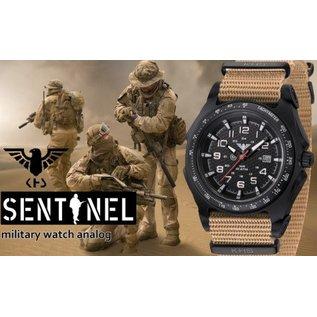 KHS Tactical Watches KHS Sentinel - A - Black  Nato Strap Tan    KHS.SEAB.NLT