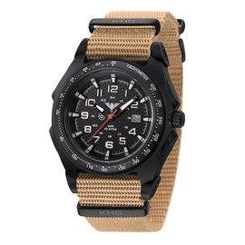 KHS Tactical Watches KHS Sentinel - A - Black  Nato Strap Tan