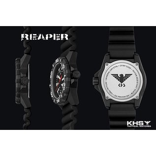 KHS Tactical Watches Taktische Einsatzuhr Reaper Natoband  XTAC Olive | RED HALO H3 lighting system