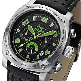 Firefox Watches  BATTLESHIP Herren Chronograph Fliegeruhr FFS22-115 grün