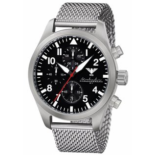 KHS Tactical Watches  Airleader Steel  Chronograph with Milanaise Bracelet