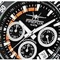 Firefox Watches  SILVER SURFER Chronograph Fliegeruhr Orange Edelstahl