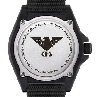 KHS Tactical Watches KHS Shooter GMT Diverband Black | KHS.SHG.DB