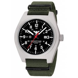 KHS Tactical Watches KHS Inceptor Steel mit grünen Nato Armband