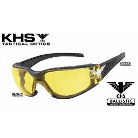KHS Tactical Optics KHS Gleitschirmbrille Sonnenbrille mit Polster Basic Yellow