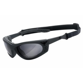 KHS Tactical Optics Graue Einsatzbrille, Sonnenbrille mit Polster KHS-101-a Ready for Mission