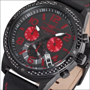 Firefox Watches  Skydiver Edelstahl Chronograph - rot, FFS20-102c