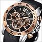 Firefox Watches  FALCON High-grade steel chronograph, rose gilds, FFS185-102