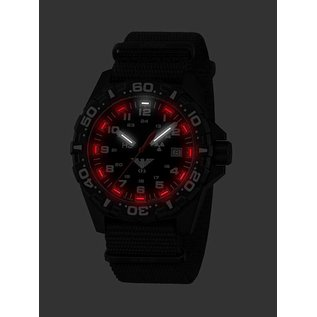 KHS Tactical Watches Tactical Watches | Reaper Nato band black | RED HALO H3 lighting system