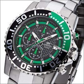 Firefox Watches  ZION Stainless Steel Chronograph 10 ATM / green FFS17-108b
