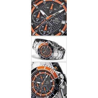 Firefox Watches  ZION Chronograph Herrenuhr Armbanduhr schwarz/orange