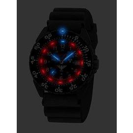KHS Tactical Watches Enforcer Black Steel MK3 | Black Diver Strap