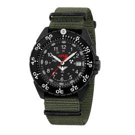 KHS Tactical Watches Enforcer Black Steel MK3 | Nato- Band Olive