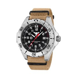KHS Tactical Watches Landleader Steel mit Natoband Tan