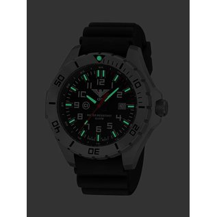 KHS Tactical Watches KHS Einsatzuhr Landleader Steel mit Diver Band Black