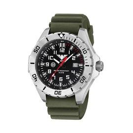 KHS Tactical Watches Landleader Steel mit Diver Band Olive