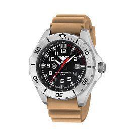KHS Tactical Watches Landleader Steel mit Diver Band Tan