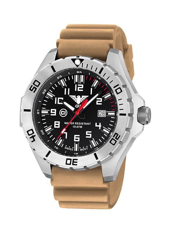 Mit Khs Landleader Diver SteelMilitäruhr BandDurchmesser 55mm Herrenuhr Armbanduhr 8kn0wOP