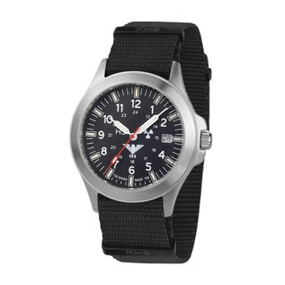 KHS Tactical Watches KHS Platoon H3 Titan Einsatzuhr -Natoband Black